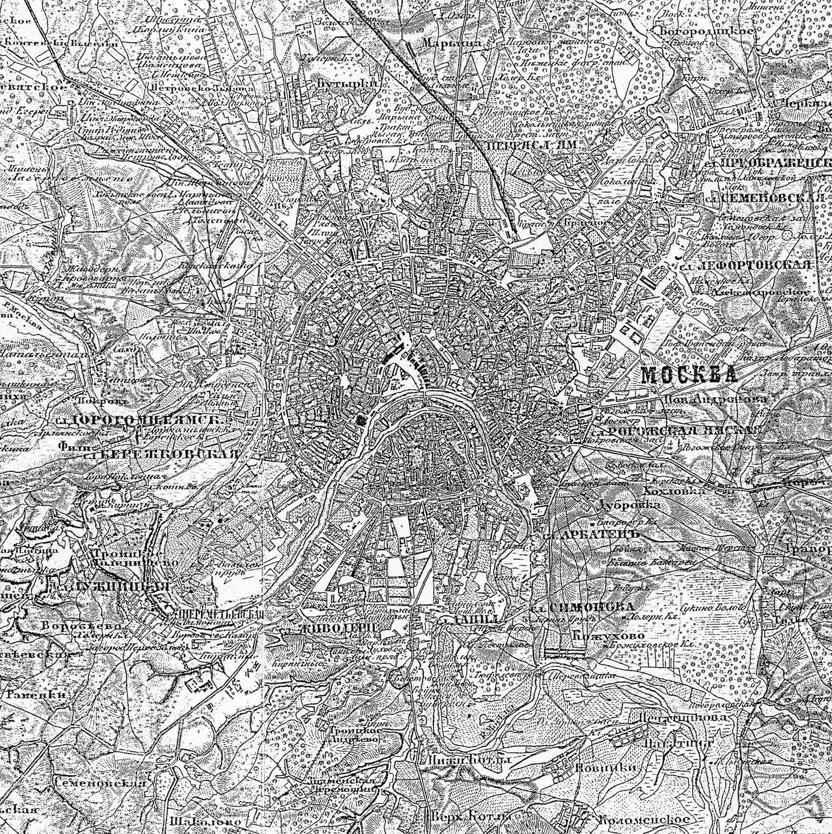 Карта москвы конец 19 го века
